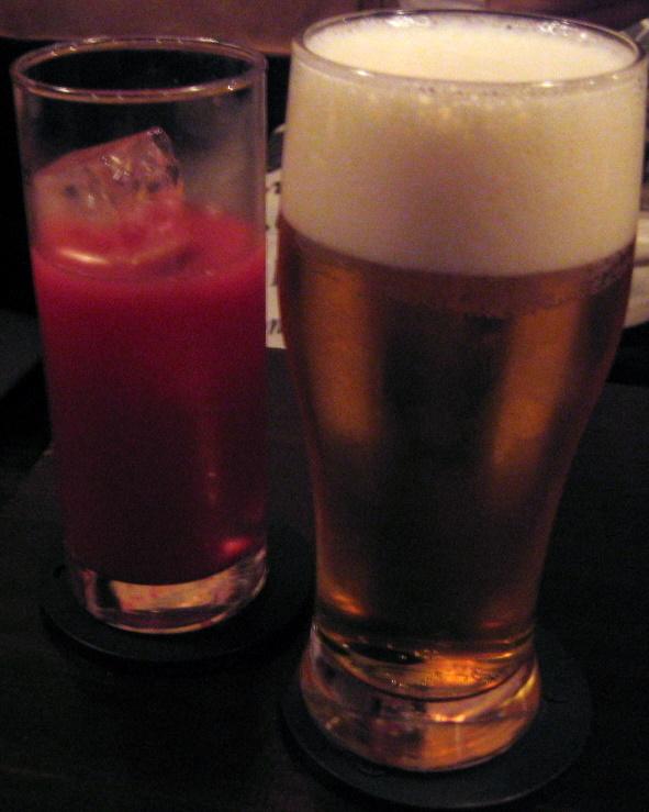 ビール&カシスオレンジ