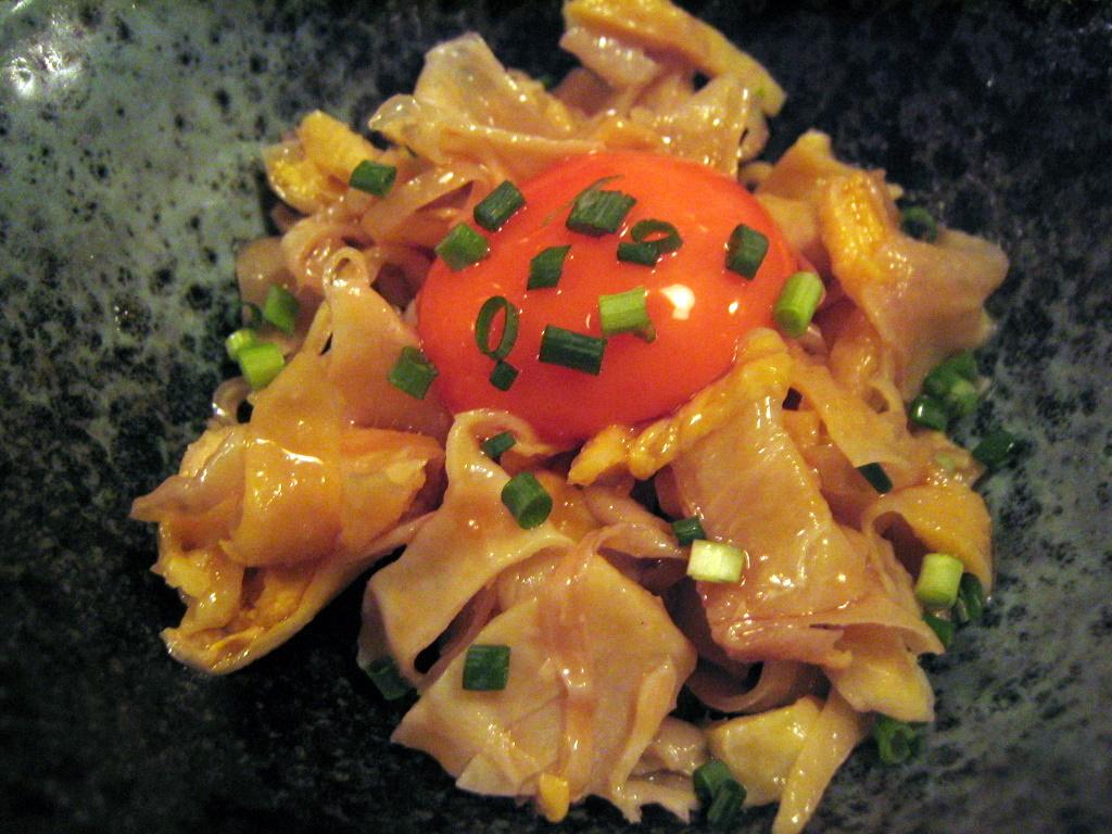 卵黄鶏皮ポン酢