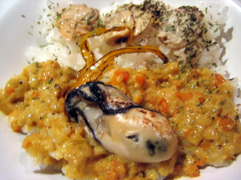 牡蠣と蛤のカレーソースごはん
