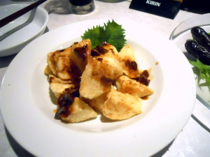 フライド山芋ガーリックバターソース