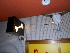 営業中のランプ