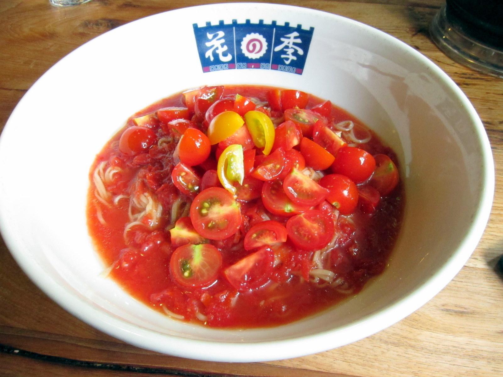 冷製朝穫トマトラーメン