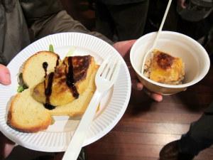 フォアグラ焼きとフォアグラ丼
