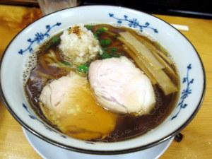 鯵そば(醤油味)